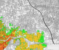 南海トラフの巨大地震の浸水想定図の岡崎小校区付近の図