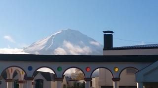 ⑲宿舎から見る富士山